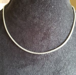 Silver wheat link chain for men or women.